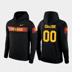 Nike Football Performance For Men's Sideline Seismic Black Trojans Custom Hoodie #00