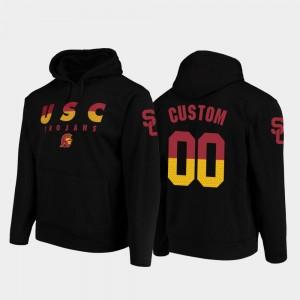 #00 Mens USC Trojans Custom Hoodie College Football Pullover Black Wedge Performance