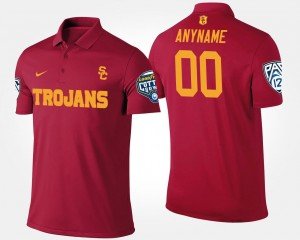 Pac 12 Conference Cotton Bowl Name and Number #00 Bowl Game Men Cardinal Trojans Custom Polo