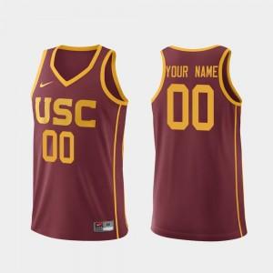 Replica Men's Cardinal College Basketball USC Trojans Customized Jerseys #00