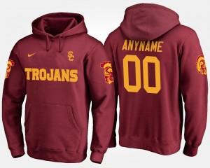 USC Trojans Custom Hoodie Name and Number Cardinal #00 Men