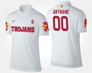 Name and Number White For Men's USC Custom Polo #00