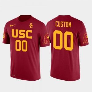 Mens Red Cotton Football #00 Future Stars USC Customized T-Shirt
