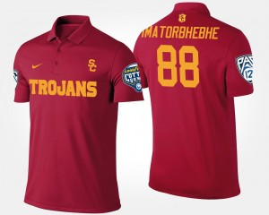Mens Pac 12 Conference Cotton Bowl Name and Number Cardinal Bowl Game #88 Daniel Imatorbhebhe USC Polo