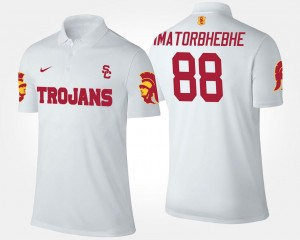 Name and Number #88 For Men White Daniel Imatorbhebhe USC Polo
