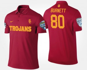 Deontay Burnett USC Polo #80 Bowl Game Mens Cardinal Pac 12 Conference Cotton Bowl Name and Number