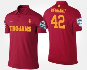 Cardinal Men Bowl Game Pac 12 Conference Cotton Bowl Name and Number Devon Kennard USC Trojans Polo #42