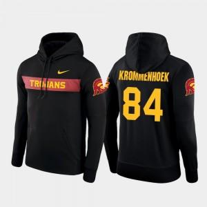 Erik Krommenhoek Trojans Hoodie #84 Sideline Seismic Black Nike Football Performance Men's