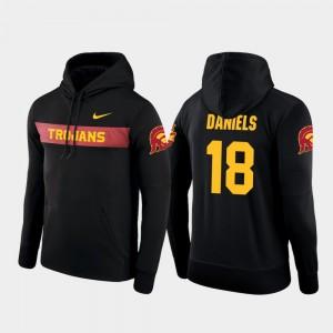 #18 Mens JT Daniels USC Hoodie Black Nike Football Performance Sideline Seismic