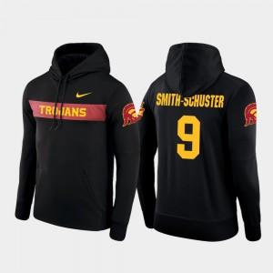 Nike Football Performance Mens JuJu Smith-Schuster USC Hoodie #9 Sideline Seismic Black