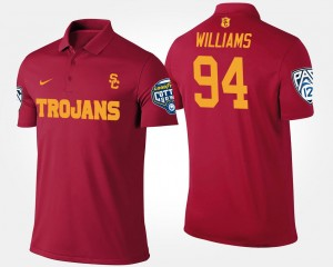 Pac 12 Conference Cotton Bowl Name and Number For Men Cardinal #94 Leonard Williams Trojans Polo Bowl Game