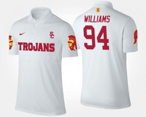 For Men's Leonard Williams USC Polo Name and Number #94 White
