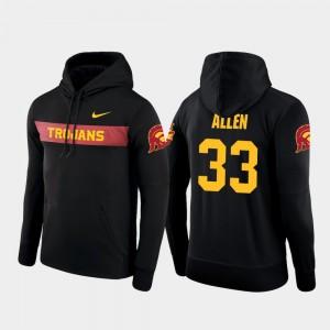 For Men Nike Football Performance #33 Black Sideline Seismic Marcus Allen Trojans Hoodie