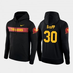 Black Men's Markese Stepp USC Hoodie Sideline Seismic #30 Nike Football Performance