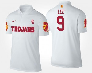 White #9 Men Marqise Lee USC Polo Name and Number