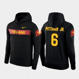 Black Sideline Seismic #6 Nike Football Performance For Men Michael Pittman Jr. USC Hoodie