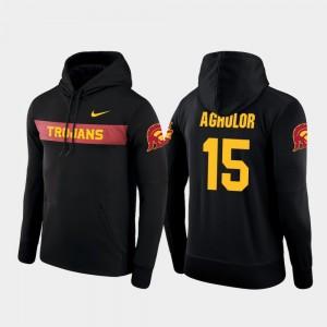 Nike Football Performance #15 Sideline Seismic Black Nelson Agholor Trojans Hoodie Men
