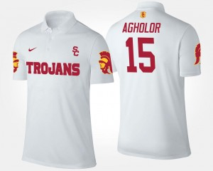 Name and Number White #15 Nelson Agholor USC Polo Mens