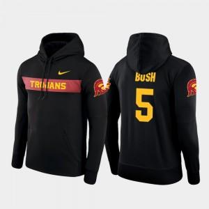 #5 Reggie Bush USC Hoodie Black Nike Football Performance Mens Sideline Seismic