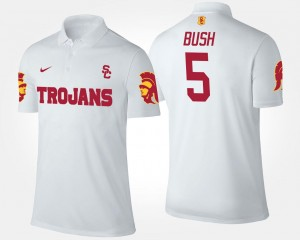 Reggie Bush USC Polo Mens Name and Number White #5