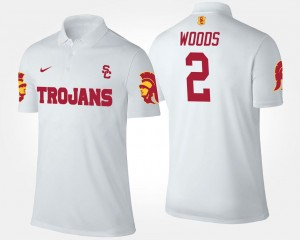Robert Woods USC Trojans Polo #2 For Men's Name and Number White