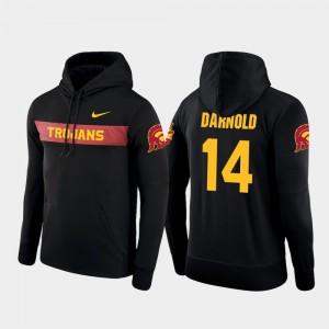 Sideline Seismic Sam Darnold USC Trojans Hoodie Men's #14 Nike Football Performance Black