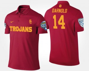 Cardinal Pac 12 Conference Cotton Bowl Name and Number #14 For Men's Sam Darnold Trojans Polo Bowl Game