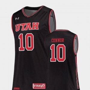 Replica College Basketball Jake Connor Utah Utes Jersey Men's Black #10