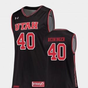 College Basketball Replica Black #40 Marc Reininger Utah Jersey For Men's
