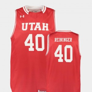 Replica #40 Red College Basketball For Men Marc Reininger Utah Utes Jersey