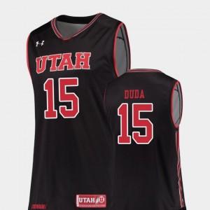 College Basketball Nate Duda Utah Utes Jersey Black #15 Replica Men