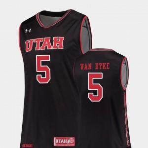Parker Van Dyke Utes Jersey Replica College Basketball For Men #5 Black