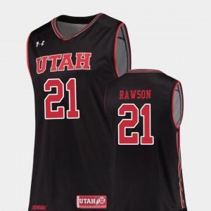 Replica For Men's Tyler Rawson Utah Utes Jersey Black #21 College Basketball