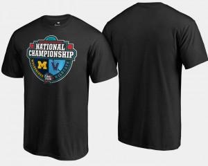 Black For Men Villanova T-Shirt 2018 Basketball National Championship Michigan Wolverines vs. Crossover Matchup