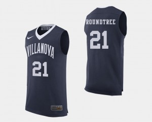 Men's College Basketball Dhamir Cosby-Roundtree Villanova Wildcats Jersey Navy #21