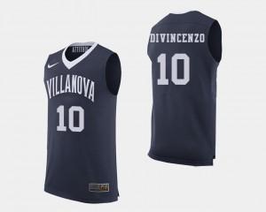 #10 College Basketball Men Donte DiVincenzo Villanova Wildcats Jersey Navy