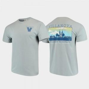 Campus Scenery Comfort Colors Villanova University T-Shirt Mens Gray
