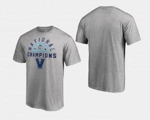 Heather Gray For Men's Basketball National Champions 2018 Dunk Big & Tall Villanova Wildcats T-Shirt