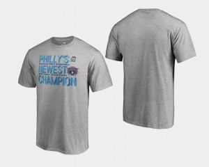 2018 Flop Villanova T-Shirt Men Basketball National Champions Heather Gray