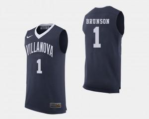 College Basketball Men's Jalen Brunson Villanova Jersey Navy #1