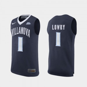 College Basketball Kyle Lowry Wildcats Jersey Replica #1 Men's Navy