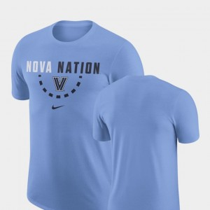 Men Basketball Team Nike Light Blue Villanova T-Shirt
