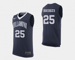#25 College Basketball Mikal Bridges Wildcats Jersey Navy Mens