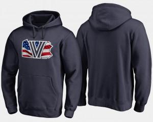 Banner State For Men's Nova Hoodie Navy Big & Tall