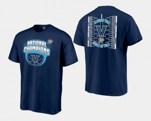 Villanova University T-Shirt Navy Mens Basketball National Champions 2018 Bracket