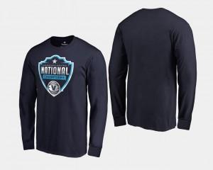 Villanova University T-Shirt Men 2018 Cut Long Sleeve Basketball National Champions Navy