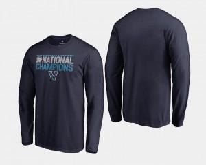 Navy Wildcats T-Shirt 2018 Dribble Long Sleeve Men Basketball National Champions