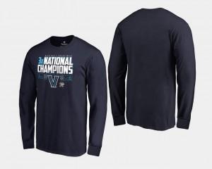 Men Villanova University T-Shirt Basketball National Champions Navy 2018 Fadeaway Long Sleeve