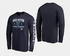 Nova T-Shirt Men's 2018 Nova Nation Long Sleeve Navy Basketball National Champions