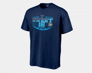 Navy Sweet 16 Bound For Men Villanova T-Shirt 2018 March Madness Basketball Tournament